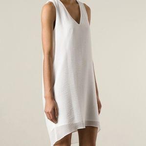 Helmut Lang White Sleeveless Dress